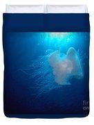 White Jellyfish Duvet Cover