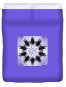 White-lilac-black Flower. Digital Art Duvet Cover