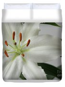 White Lily 1 Duvet Cover