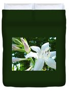 White Lily Flowers Art Prints Lilies Giclee Baslee Troutman Duvet Cover