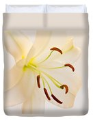 White Lily Square Version Duvet Cover