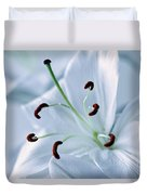 White Lily Triptych Part2 Duvet Cover