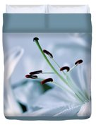White Lily Triptych Part3 Duvet Cover