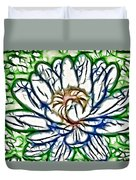 White Lotus  Duvet Cover