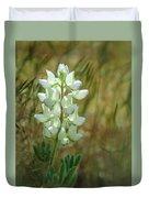 White Lupin Lupinus Albus Duvet Cover