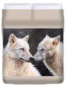 White Magic Duvet Cover by Sandi Baker
