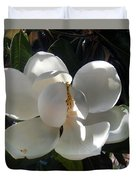 White Magnolia Flower 01 Duvet Cover