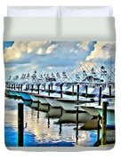 White Marlin Open Duvet Cover