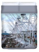 White Marlin Open Docks Duvet Cover