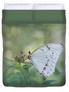 White Morpho Butterfly Duvet Cover