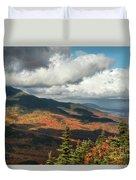 White Mountain Foliage Duvet Cover