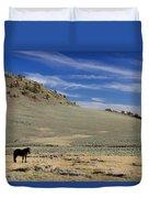 White Mountain Horse Duvet Cover
