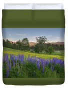 White Mountain Sunset Duvet Cover