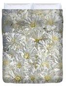 White Mums Duvet Cover