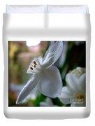 White Narcissi Spring Flower 4 Duvet Cover