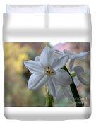 White Narcissi Spring Flowers 3 Duvet Cover