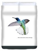 White Necked Jacobin Trinidad Duvet Cover