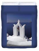 White On Blue Duvet Cover