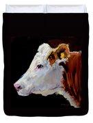 White On Brown Cow Duvet Cover