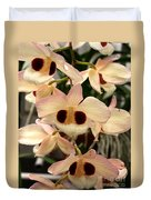 White Orchids With A Hint Of Pink Duvet Cover