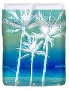 White Palms Duvet Cover