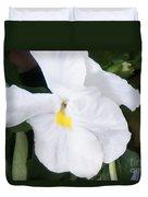 White Pansy Duvet Cover