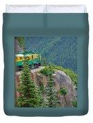 White Pass Train Alaska - Canada Duvet Cover