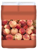 White Peaches Duvet Cover by John Trax