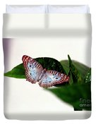 White Peacock Butterfly 2 Duvet Cover