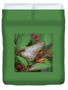 White Peacock Butterfly Duvet Cover