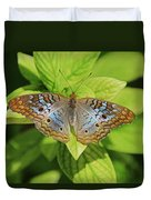 White Peacock Butterfly I Duvet Cover