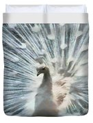 White Peacock Duvet Cover