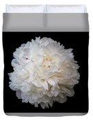White Peony Flower Duvet Cover