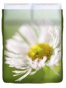 White Petal Flower Abstract Duvet Cover