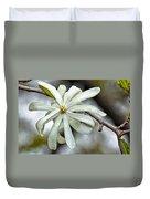 White Petals Duvet Cover