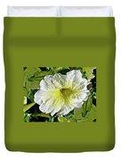 White Petunia - Solanaceae Duvet Cover