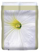 White Petunia Wall Art Duvet Cover