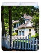White Picket Fence Duvet Cover