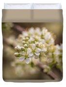 White Plum Blossom Duvet Cover