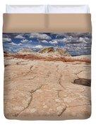 White Pocket # 4 Duvet Cover