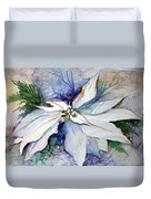 White Poinsettia Duvet Cover
