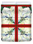 White Poinsettia Quartet Duvet Cover