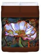 White Poppy Flower Duvet Cover