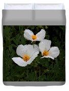 White Poppy In Cube Duvet Cover