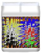 White Prickly Poppy Flower Color Abstract Duvet Cover