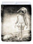 White Rabbit Duvet Cover by Bob Orsillo