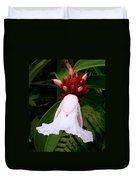 White Rainforest Flower Duvet Cover