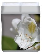 White Reaching Out Duvet Cover