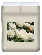 White Rhodies Landscape Floral Art Prints Canvas Baslee Troutman Duvet Cover