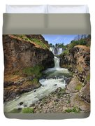 White River Falls C Duvet Cover